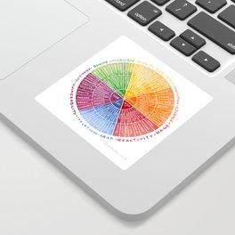 Emotion Wheel Sticker