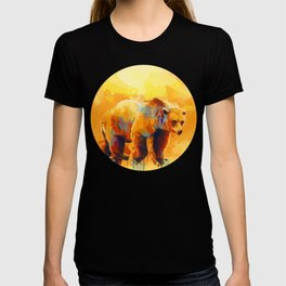 Bear Dream - Colorful grizzly bear digital art T-shirt