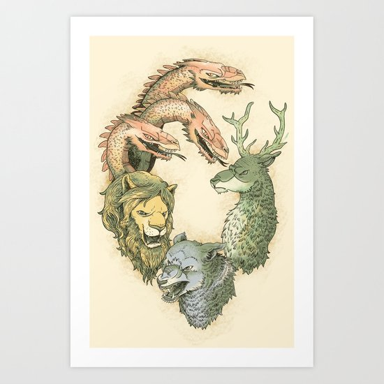 fight for the throne Art Print