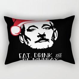 EAT DRINK AND BE MURRAY Santa Hat Bill Murray Christmas Rectangular Pillow
