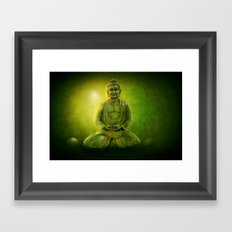 Happy Buddha 1 Framed Art Print