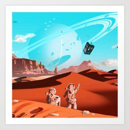 tardis space Art Print