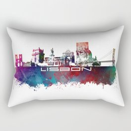 Lisbon blue art Rectangular Pillow