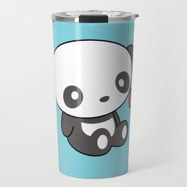 Kawaii Cute Panda With Heart Travel Mug
