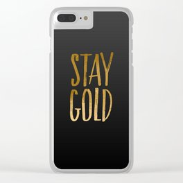 stay gold Clear iPhone Case