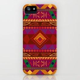 Native American Warm Pattern Design iPhone Case
