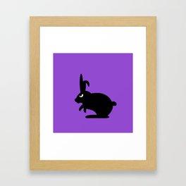 Angry Animals: Bunny Framed Art Print