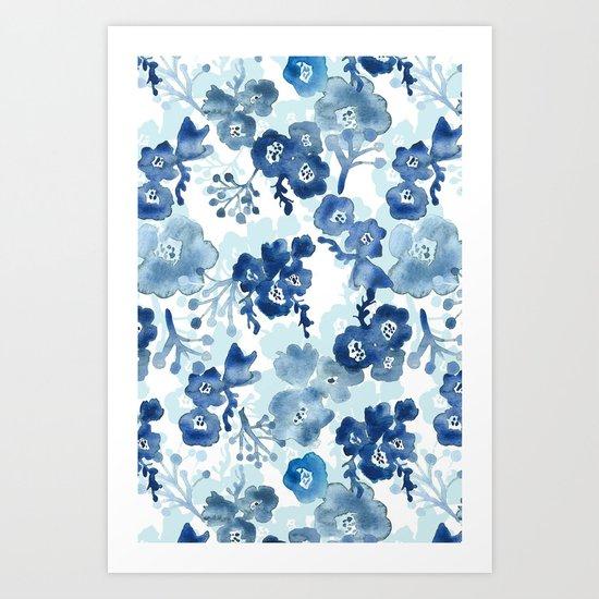 Blooms of Ink Art Print