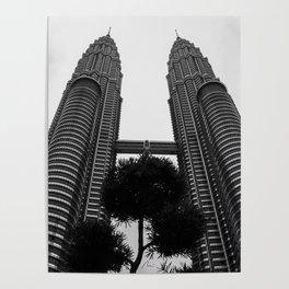 Petronas b&w Poster