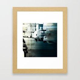 City Stripes Framed Art Print