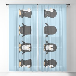 Penguin 360 Sheer Curtain