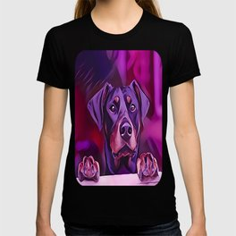 Doberman Looking Out The Window T-shirt