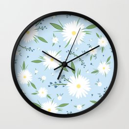 chamomile pattern Wall Clock
