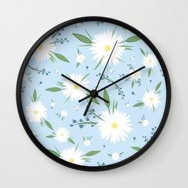 chamomile pattern Wall Clock