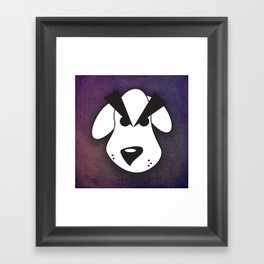 Peeved Pup Framed Art Print