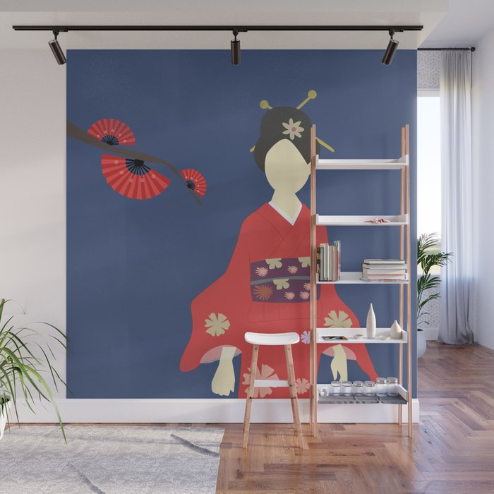 Japanese Cherry Blossom Wall Mural By 83oranges Society6