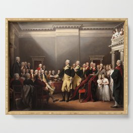 General George Washington Resigning His Commission by John Trumbull (1824) Serving Tray
