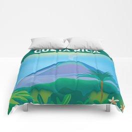 Costa Rica - Skyline Illustration by Loose Petals Comforters