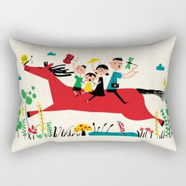 happy horse Rectangular Pillow
