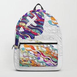 Colorful SKULL Backpack