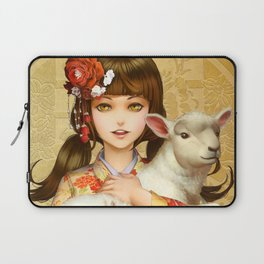 Seasons Greetings 2015, the Year of the Sheep Laptop Sleeve