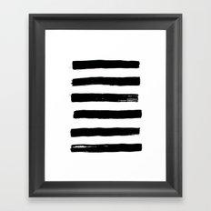black paint stripes Framed Art Print
