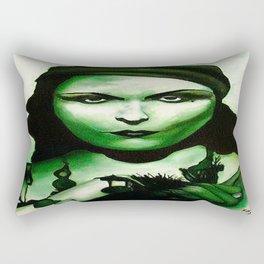 Green Goddess Rectangular Pillow