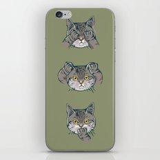 No Evil Cat iPhone & iPod Skin