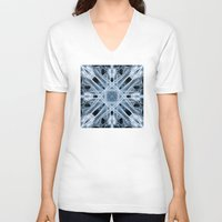 snowflake V-neck T-shirts featuring Snowflake by Steve Purnell