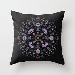 Wiccan Mandala Throw Pillow