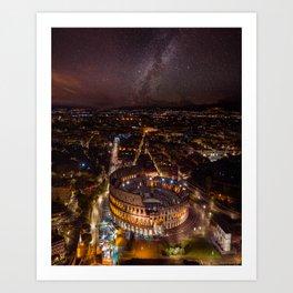 Nightscape in Rome Art Print