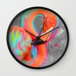 Infinite Possibilities - (Neon Infinity Flamingo) Wall Clock