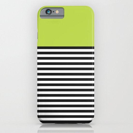 STRIPE COLORBLOCK {LIME} iPhone & iPod Case