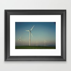 Windmills in the Sun Framed Art Print