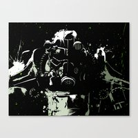 fallout Canvas Prints featuring Fallout by Adam Newacheck