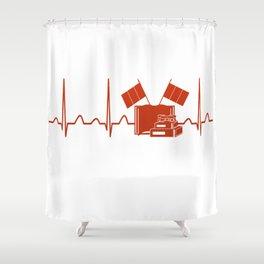 French Teacher Heartbeat Shower Curtain