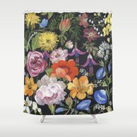 baroque Shower Curtains featuring Baroque Garden by Edith Jackson-Designs