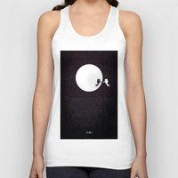 movie poster Tank Tops featuring Moon alternative movie poster by LionDsgn