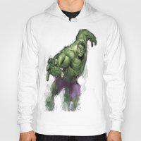 hulk Hoodies featuring Hulk  by Isaak_Rodriguez