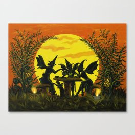 """Halloween witches floor mat """"Reading the tea leaves..."""" Canvas Print"""