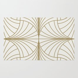 Diamond Series Inter Wave Gold on White Rug