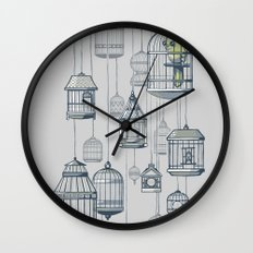Last Bird in the Shop Wall Clock