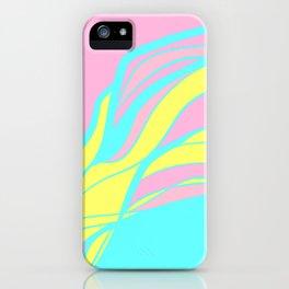 pink & teal waves / minimalist iPhone Case
