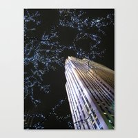 30 rock Canvas Prints featuring 30 Rock at Night, NYC by Donna Rocco Photography