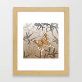 Beautiful Copper Butterfly Design Framed Art Print