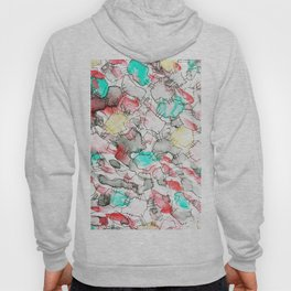 Abstract watercolor, shape like old tripe.No.93 Hoody