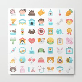 CUTE VET / VETERINARIAN PATTERN Metal Print