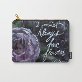 I Must Always Have Flowers Monet Carry-All Pouch