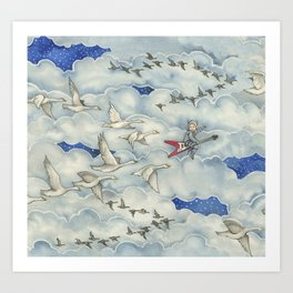 Brevan and the Flying V Art Print