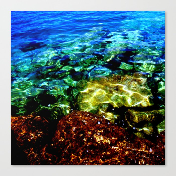 Greek Sea Water Edit Canvas Print